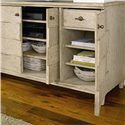 Stanley Furniture Coastal Living Resort Ocean Breakers Console with Pocket Doors - Multiple Storage Options for Media Accessories