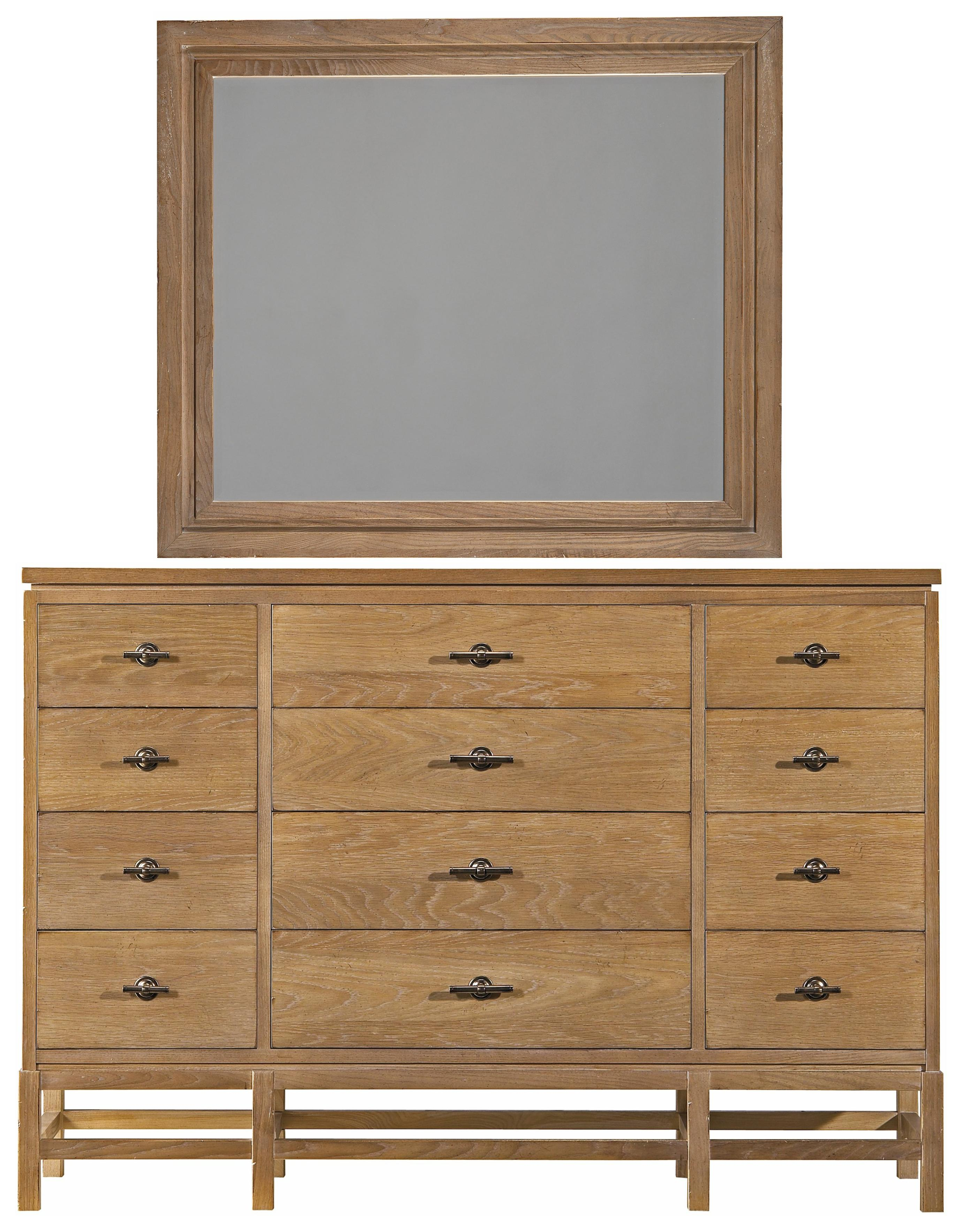 Stanley Furniture Coastal Living Resort Tranquility Isle Dresser & Day's End Mirror - Item Number: 062-63-06+31