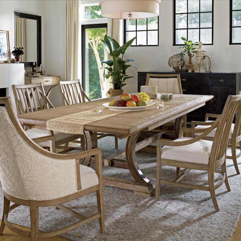 Stanley Furniture Coastal Living Resort 7 Piece Table and Chair Set - Item Number: 062-71-36+4x65+2x75