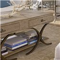 Stanley Furniture Coastal Living Resort Windward Dune Cocktail Table - Lovely Weathered Pier Finish with X Motifs