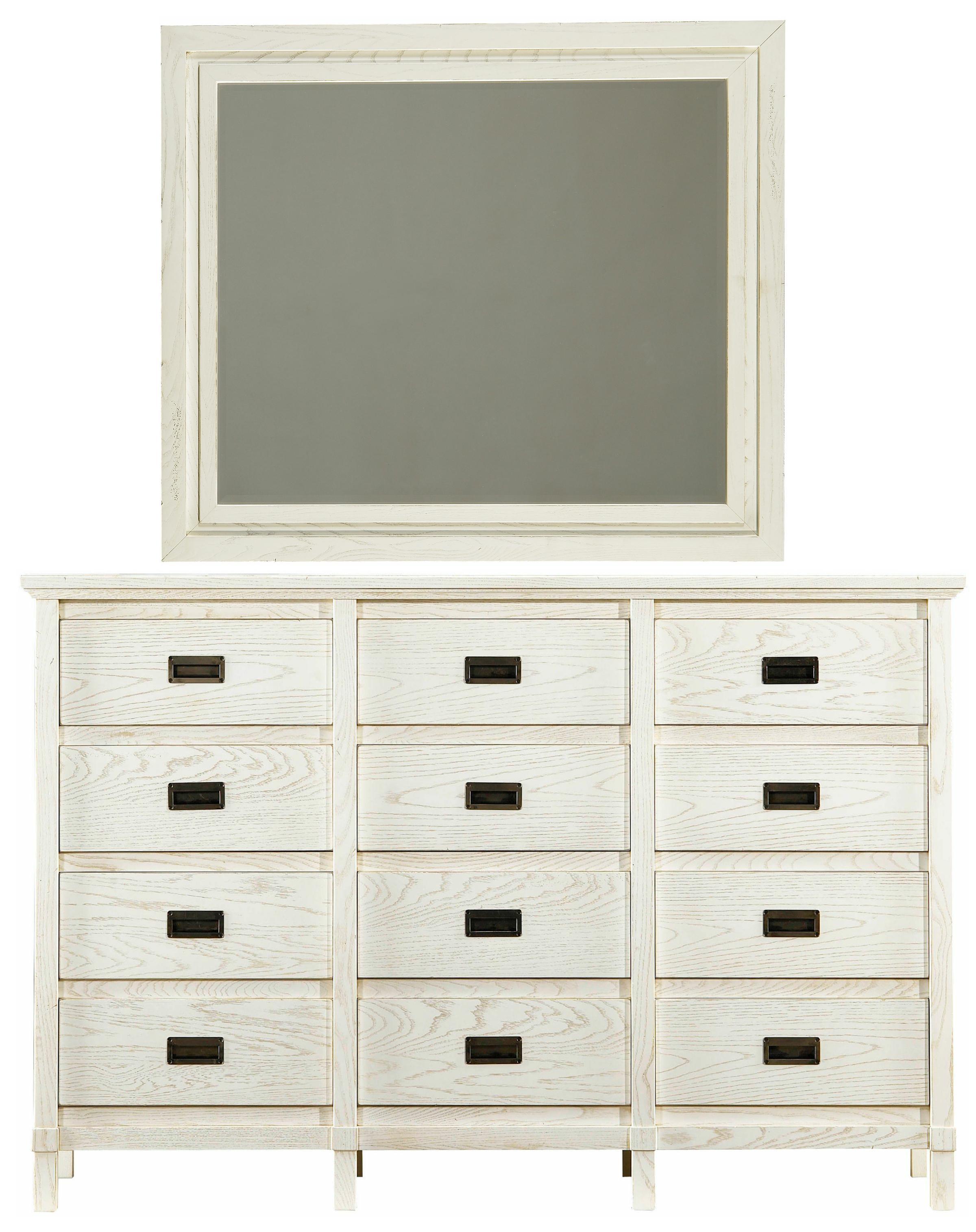 Stanley Furniture Coastal Living Resort Haven's Harbor Dresser & Day's End Mirror - Item Number: 062-A3-05+31
