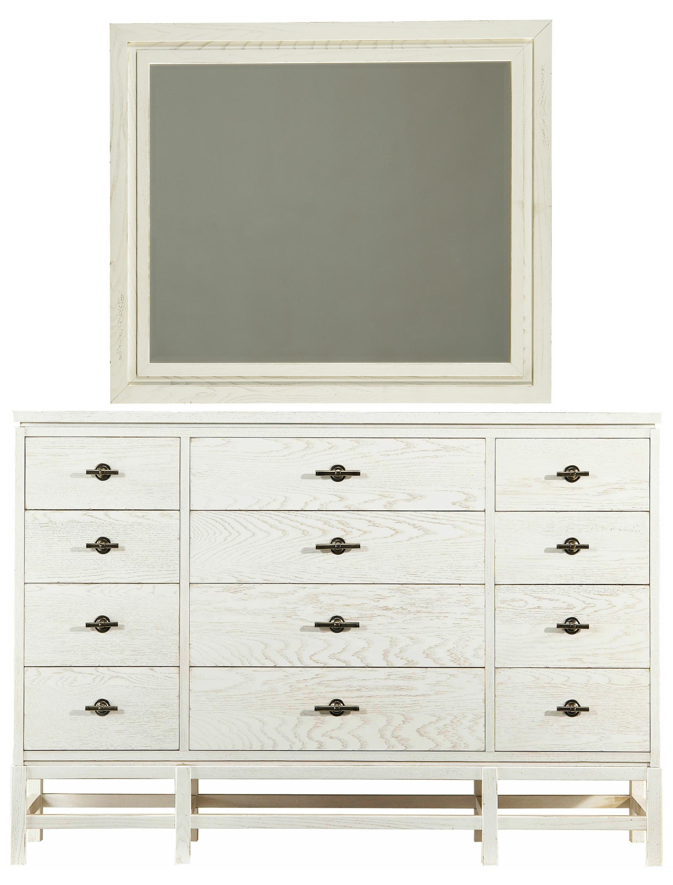 Stanley Furniture Coastal Living Resort Tranquility Isle Dresser & Day's End Mirror - Item Number: 062-A3-06+31