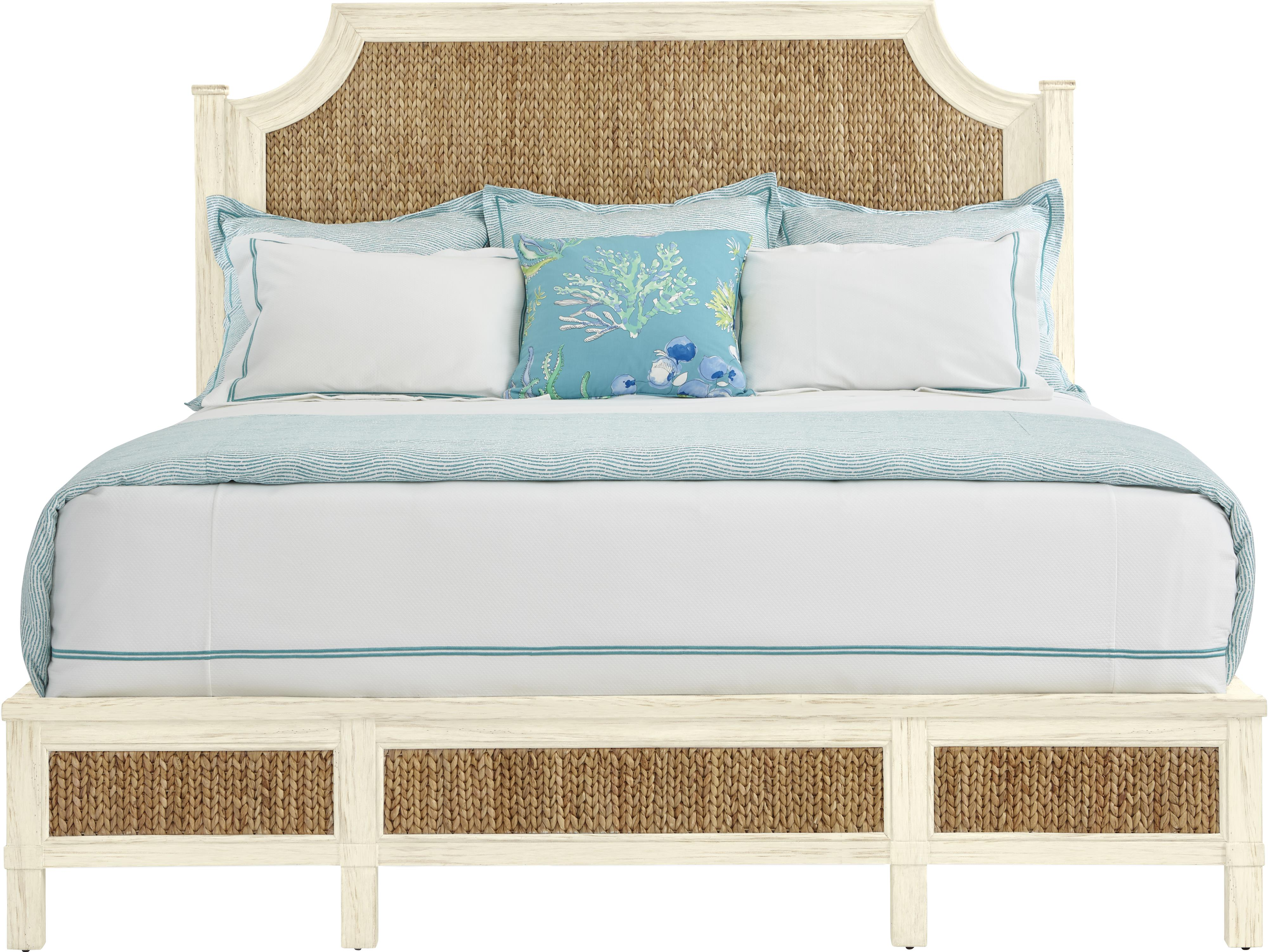 Stanley Furniture Coastal Living Resort Queen Water Meadow Woven Bed - Item Number: 062-A3-41