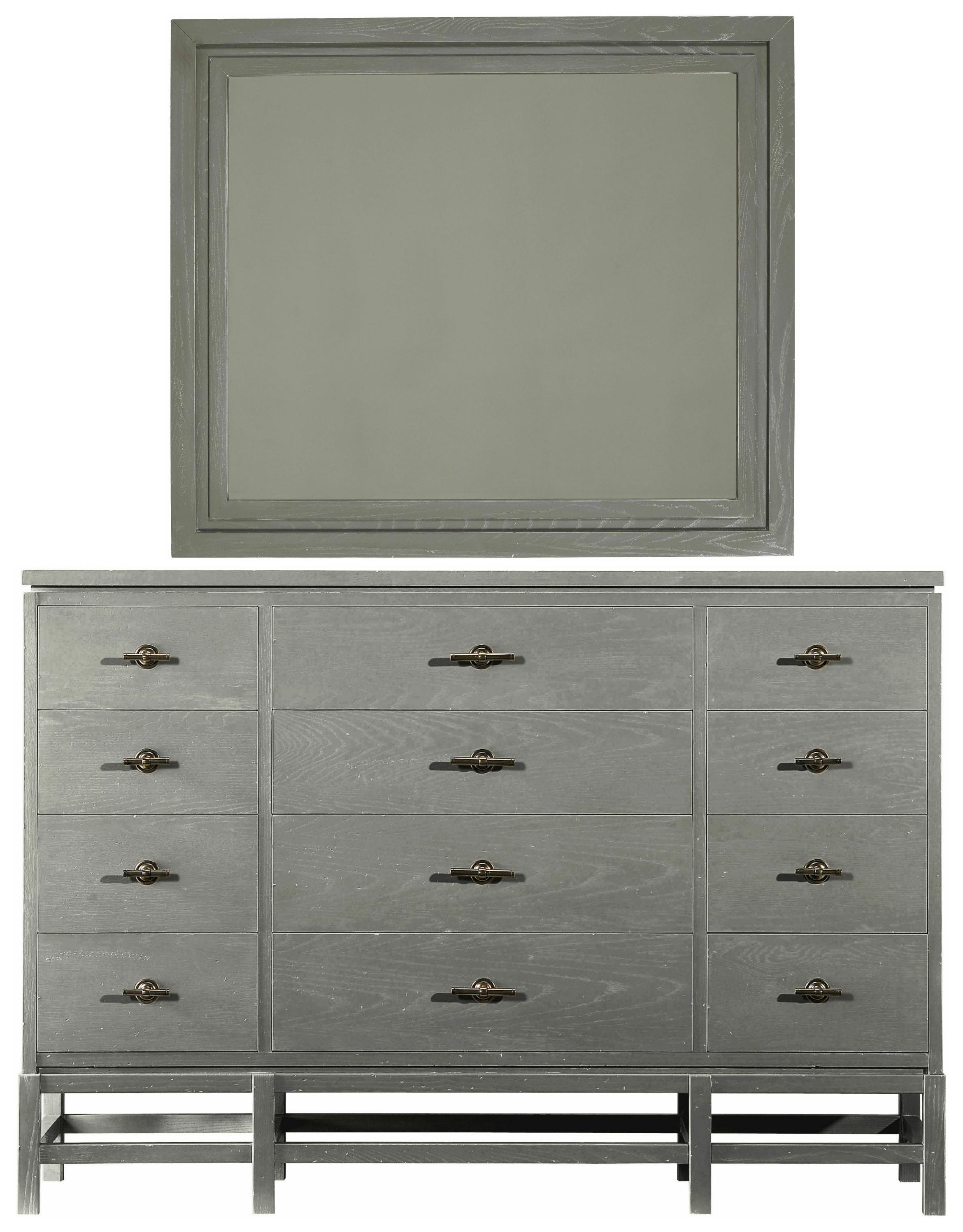 Stanley Furniture Coastal Living Resort Tranquility Isle Dresser & Day's End Mirror - Item Number: 062-B3-06+31
