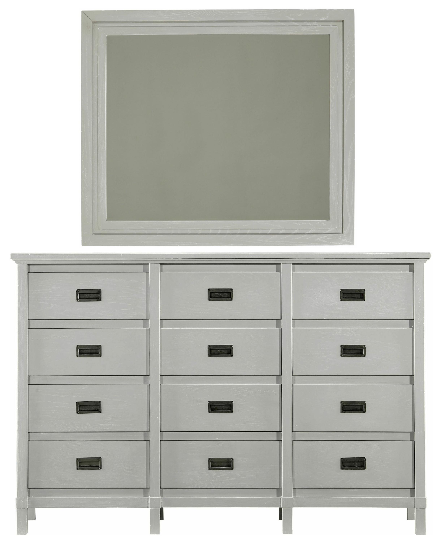 Stanley Furniture Coastal Living Resort Haven's Harbor Dresser & Day's End Mirror - Item Number: 062-C3-05+31