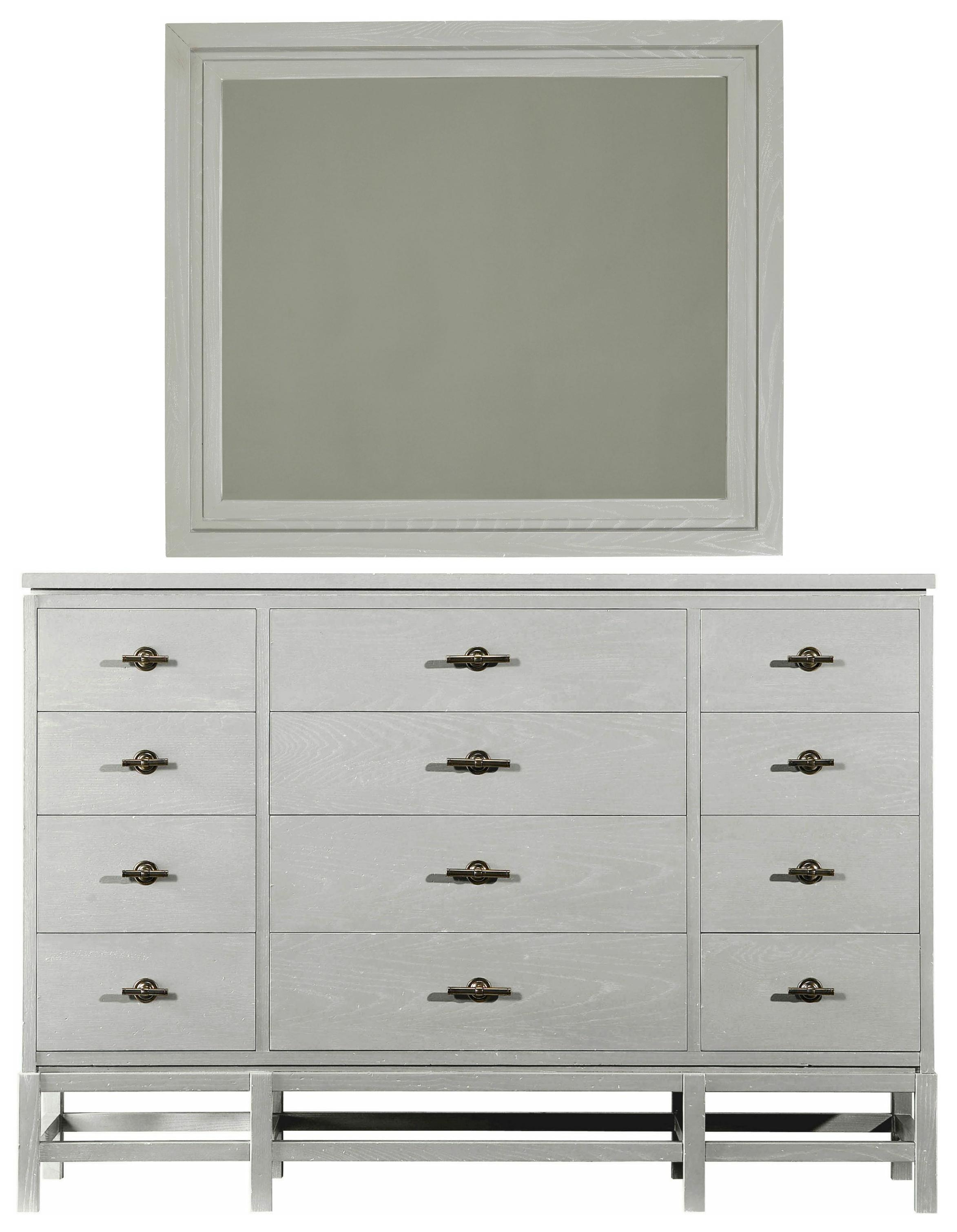 Stanley Furniture Coastal Living Resort Tranquility Isle Dresser & Day's End Mirror - Item Number: 062-C3-06+31