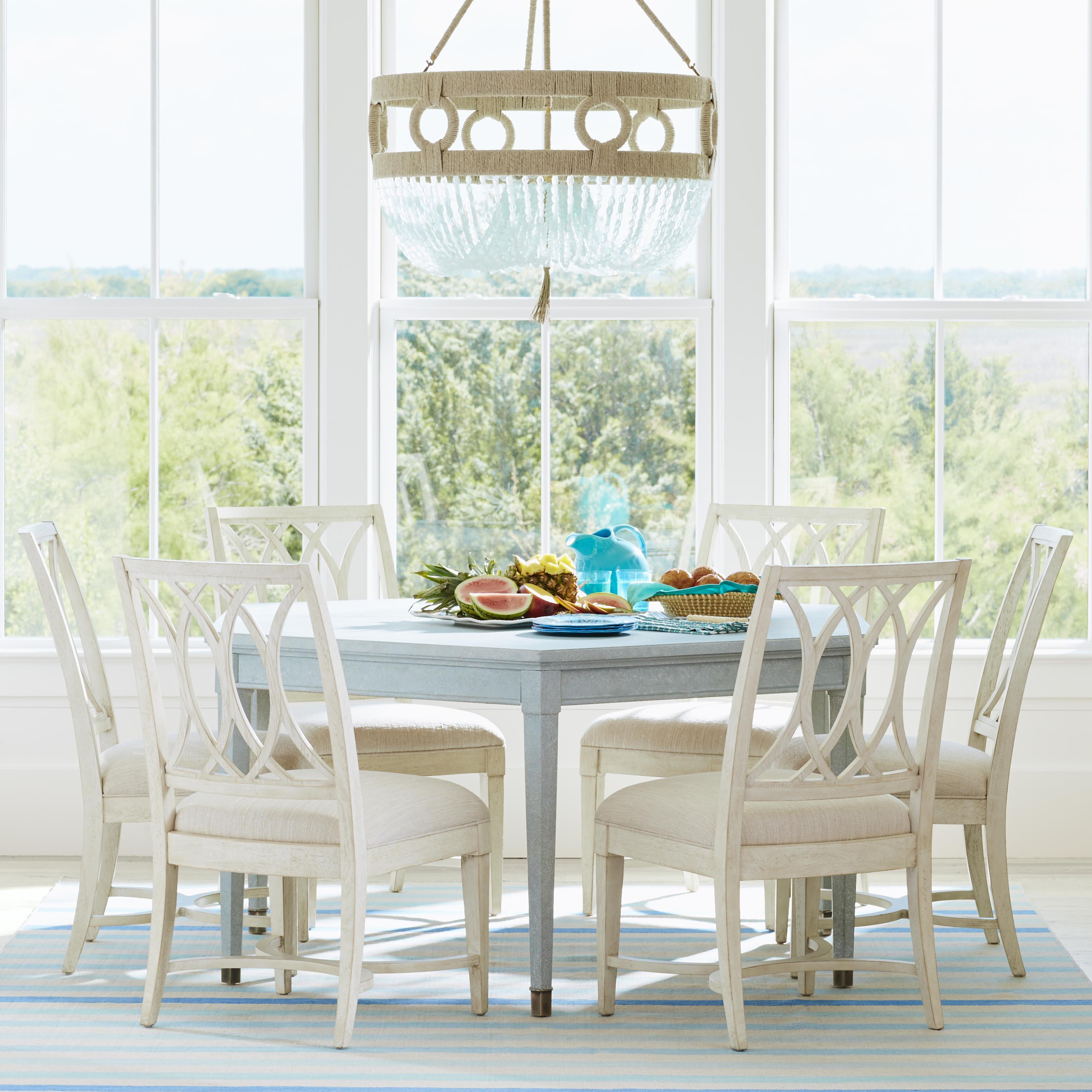 Stanley Furniture Coastal Living Resort 7 Piece Soledad Promenade Table & Chair Set - Item Number: 062-H1-32+6xA1-60