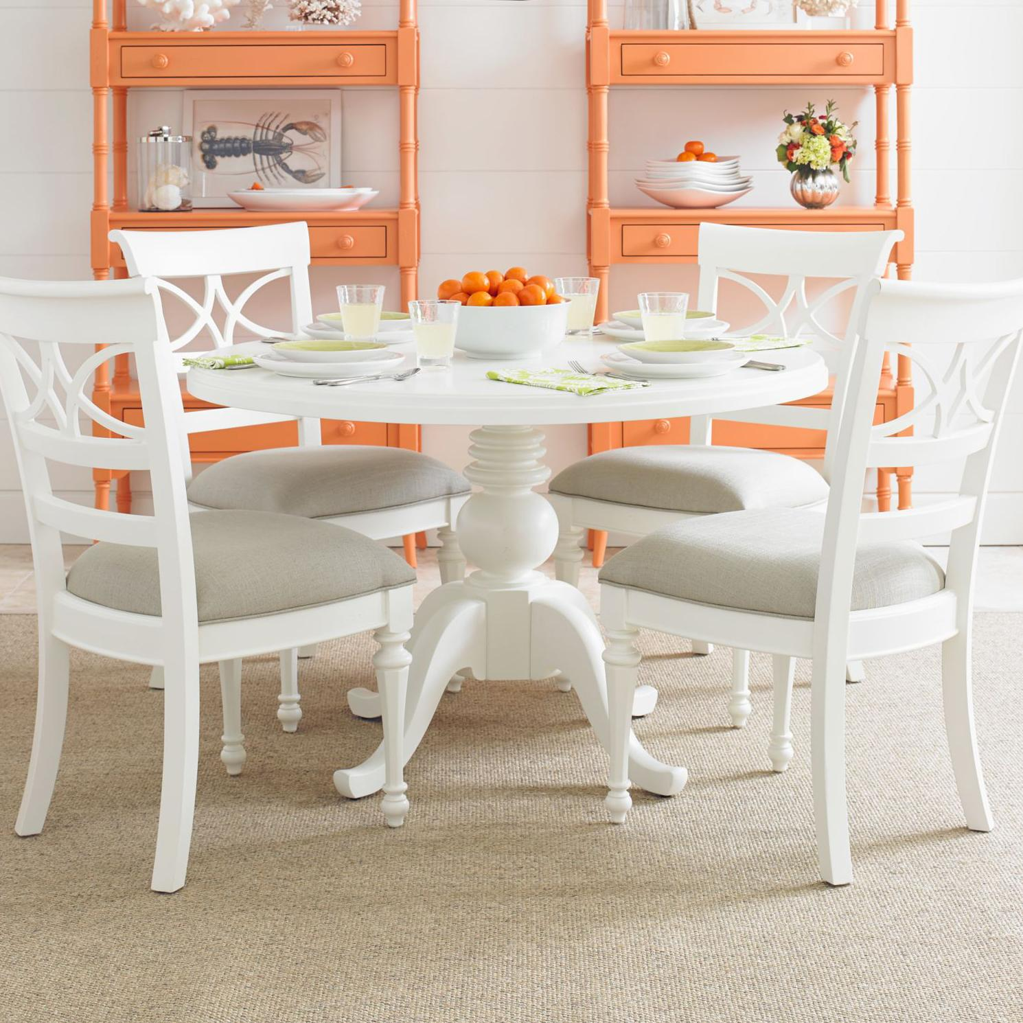 Stanley Furniture Coastal Living Retreat 5-Piece Round Pedestal Table Set - Item Number: 411-21-37+4x60