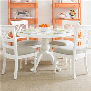 Stanley Furniture Coastal Living Retreat 5-Piece Round Pedestal Table Set