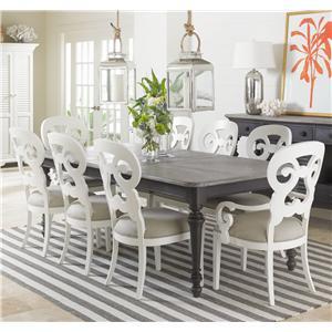 Stanley Furniture Coastal Living Retreat 9-Piece Rectangular Leg Table Set