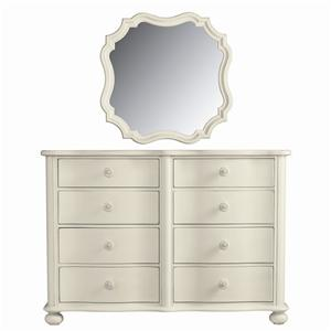 Stanley Furniture Coastal Living Cottage Weekend Dresser and Piecrust Mirror