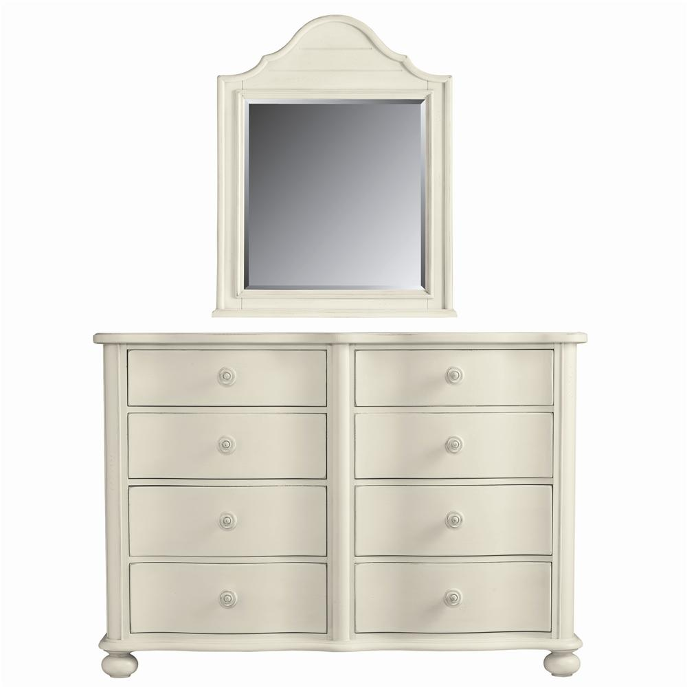 Stanley Furniture Coastal Living Cottage Weekend Dresser and Top Arch Mirror - Item Number: 829-F3-04+31