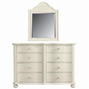 Stanley Furniture Coastal Living Cottage Weekend Dresser and Top Arch Mirror
