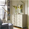 Stanley Furniture Coastal Living Cottage 8 Drawer Weekend Dresser and Top Arch Mirror Combination