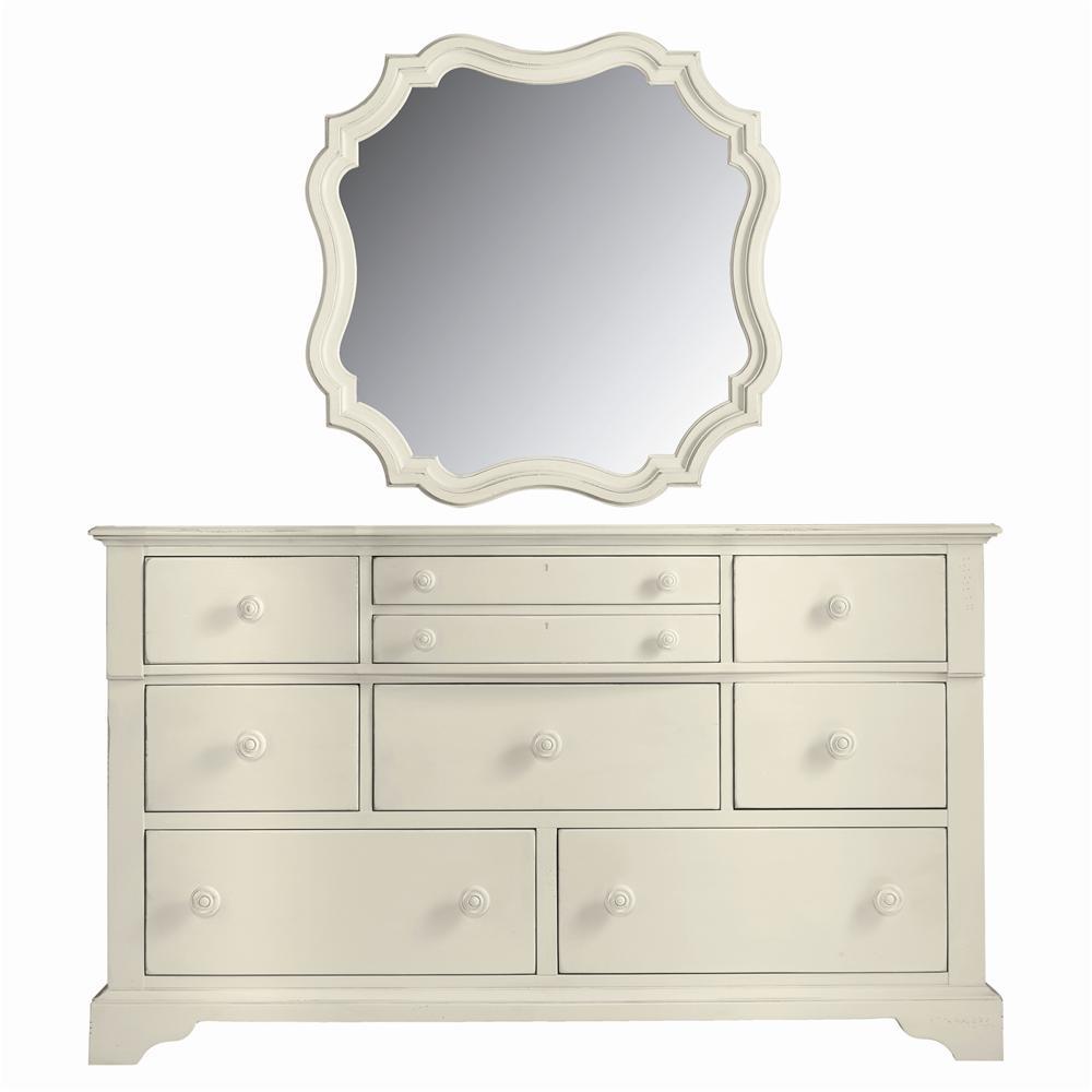 Stanley Furniture Coastal Living Cottage Getaway Dresser and Piecrust Mirror - Item Number: 829-F3-05+30