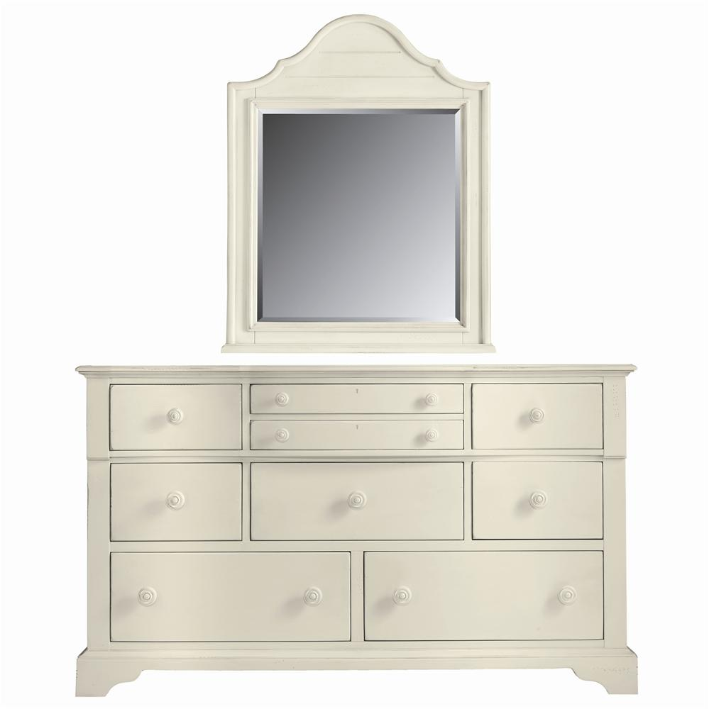 Stanley Furniture Coastal Living Cottage Getaway Dresser and Top Arch Mirror - Item Number: 829-F3-05+31
