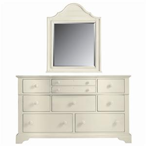 Stanley Furniture Coastal Living Cottage Getaway Dresser and Top Arch Mirror