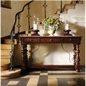 Stanley Furniture Costa del Sol Pillars of the Graces Serviceboard with Marble Top - Shown in Entry Way Setting