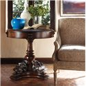 Stanley Furniture Costa del Sol Smiling Luna Evening Round Pedestal Lamp Table