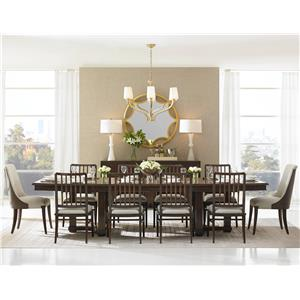 Stanley Furniture Crestaire 11-Piece Lola Double Pedestal Table Set