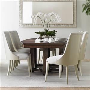 Stanley Furniture Crestaire 9-Piece Lola Double Pedestal Table Set