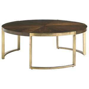 Stanley Furniture Crestaire Autry Round Cocktail Table