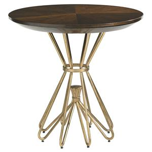 Stanley Furniture Crestaire Milo Round Lamp Table