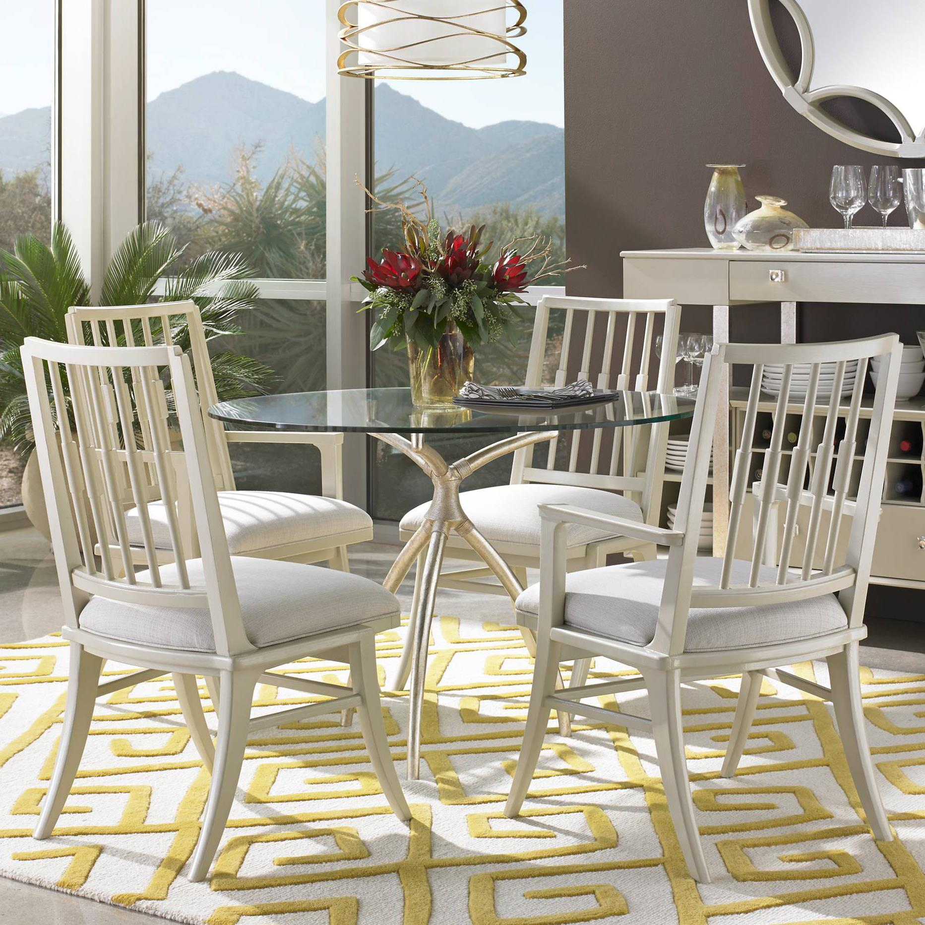 Stanley Furniture Crestaire 5-Piece Hovely Dining Table Set - Item Number: 436-41-30+2x21-70+2x21-60