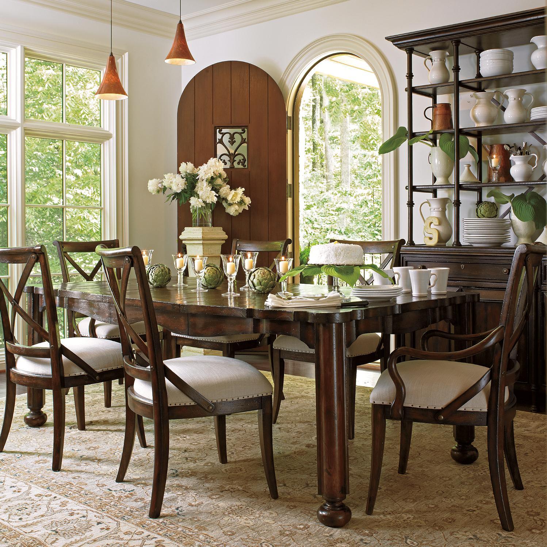 Stanley Furniture European Farmhouse 7 Piece Set - Item Number: 018-11-32+2x70+4x60