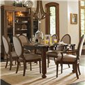Stanley Furniture European Farmhouse Farmer's Market Table - Shown with Million Stars Side and Hostess Chairs, and Les Halles Cabinet