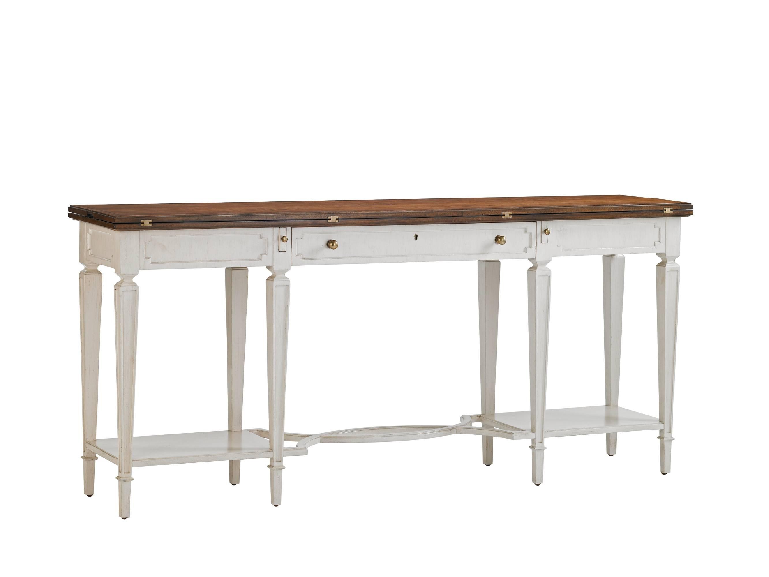 Stanley Furniture Fairfax Flip Top Console Table With Cherry