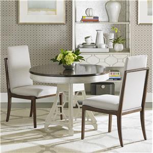 Stanley Furniture Fairlane 3-Piece Round Pedestal Table Set