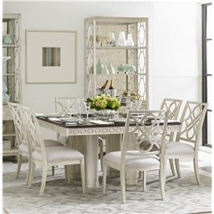 Stanley Furniture Fairlane 7-Piece Square Table Set