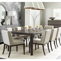 Stanley Furniture Horizon 9-Piece Rectangular Dining Table Set - Item Number: 831-G1-36+8x60