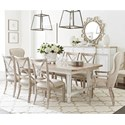 Stanley Furniture Juniper Dell 9-Piece Dining Table Set - Item Number: 615-21-36+2x61-74+6x61-60