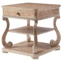 Stanley Furniture Juniper Dell End Table with Scrolled Legs