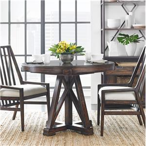 Stanley Furniture Newel 3-Piece Round Pedestal Table Set