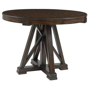 Stanley Furniture Newel Round Pedestal Table