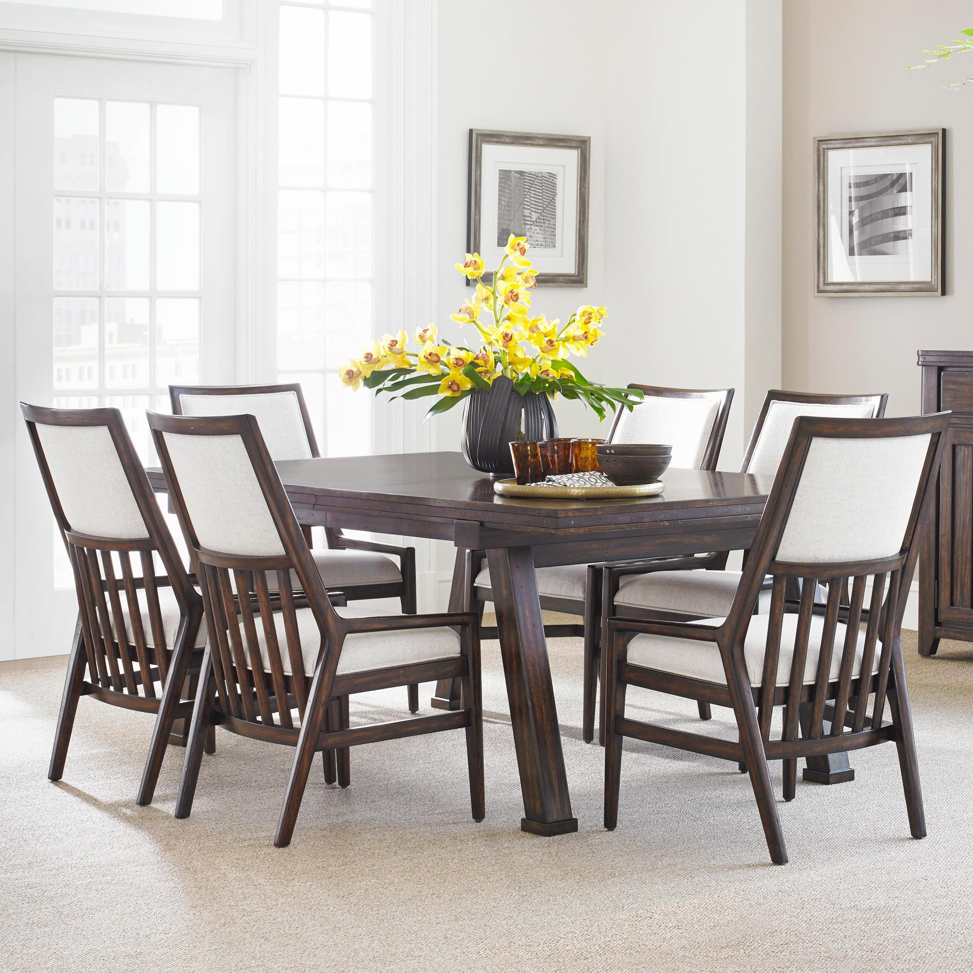 Stanley Furniture Newel 7-Piece Rectangular Dining Table Set - Item Number: 484-11-36+6x65
