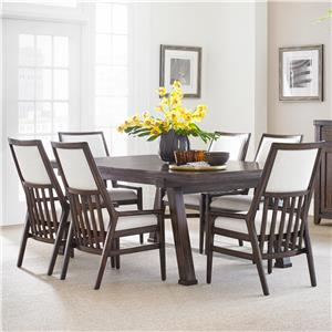 Stanley Furniture Newel 7-Piece Rectangular Dining Table Set