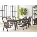Stanley Furniture Newel Rectangular Dining Table with Cathedral White Oak Veneer Top & 2 Leaves
