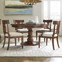 Stanley Furniture Old Town 5-Piece 54 Inch Round Dining Table Set - Item Number: 935-11-31+2x70+2x60