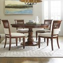 Stanley Furniture Old Town 5-Piece 54 Inch Round Dining Table Set - Item Number: 935-11-31+2x71+2x61
