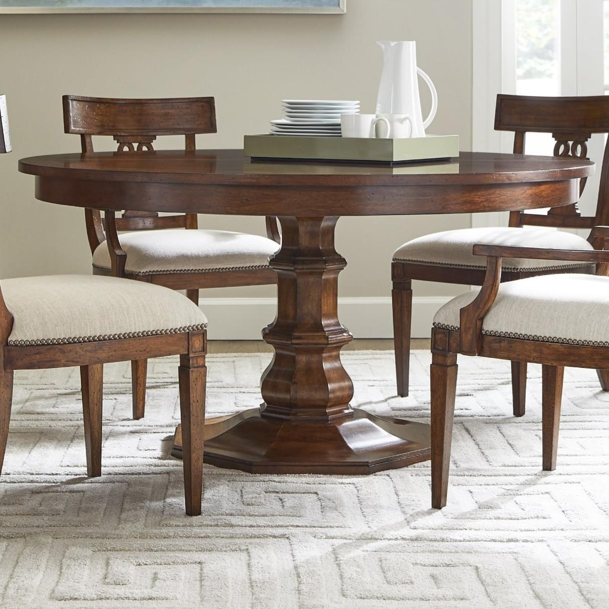 Stanley Furniture Old Town 60 Inch Round Dining Table With Leaf Sprintz Furniture Dining Tables