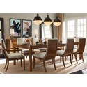 Stanley Furniture Panavista 9-Piece Archetype Dining Table Set - Item Number: 704-11-36+2x75+6x65