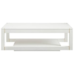 Stanley Furniture Panavista Floating Parsons Rectangular Cocktail Table