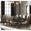Stanley Furniture Panavista 11-Piece Archetype Dining Table Set - Item Number: 704-31-36+2x75+8x65