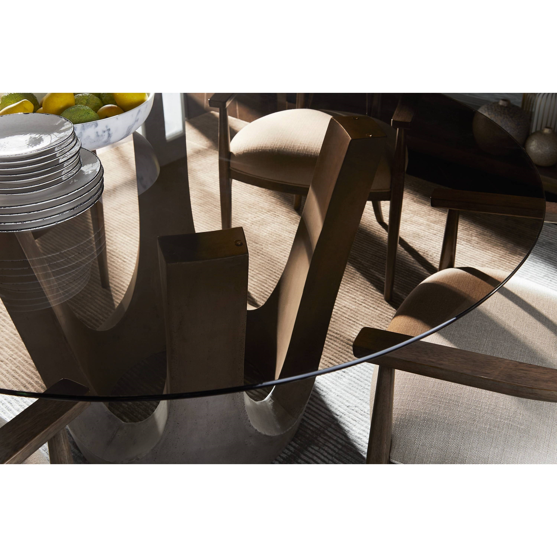 "Stanley Furniture Virage Dining Room Set: Stanley Furniture Panavista 5-Piece 54"" Glass Top Dining"