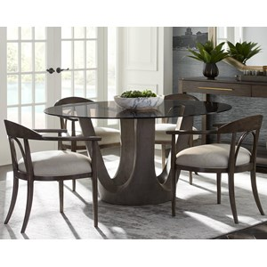 "Stanley Furniture Panavista 5-Piece 54"" Glass Top Dining Table Set"