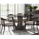 "Stanley Furniture Panavista 5-Piece 54"" Glass Top Dining Table Set - Item Number: 704-91-33+4x31-74"